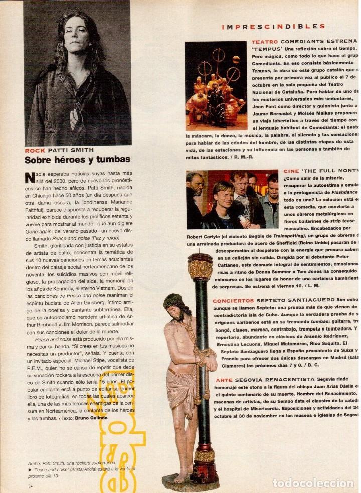 Coleccionismo de Periódico El País: 1997. mira sorbino. patti smith. lola baldrich. miguel artola. donna karan. miró. ver sumario. - Foto 4 - 145881398
