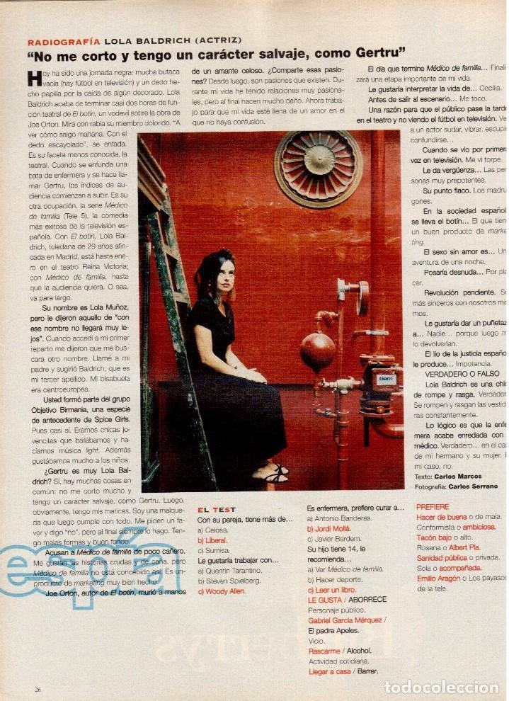 Coleccionismo de Periódico El País: 1997. mira sorbino. patti smith. lola baldrich. miguel artola. donna karan. miró. ver sumario. - Foto 5 - 145881398
