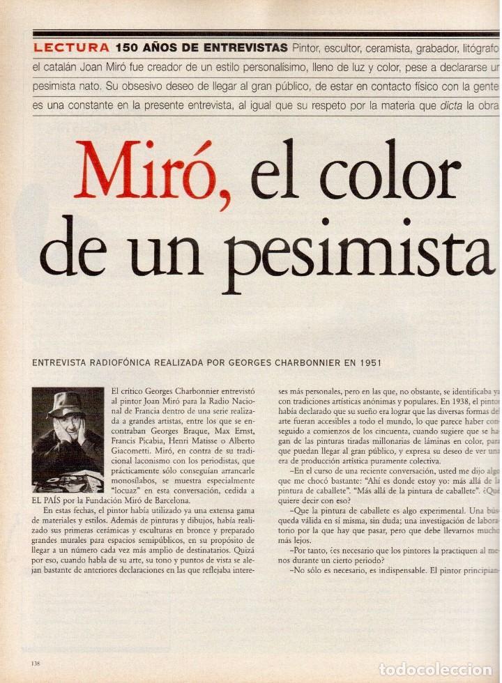 Coleccionismo de Periódico El País: 1997. mira sorbino. patti smith. lola baldrich. miguel artola. donna karan. miró. ver sumario. - Foto 9 - 145881398