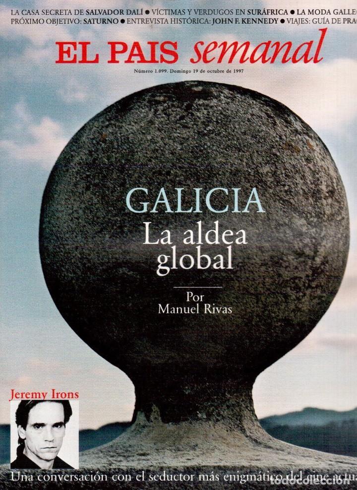 1997. THE CORRS. JEANNE MANDELLO. AITANA SÁNCHEZ-GIJÓN. JEREMY IRONS. ANTÓN REIXA. DALÍ. VER SUMARIO (Coleccionismo - Revistas y Periódicos Modernos (a partir de 1.940) - Periódico El Páis)