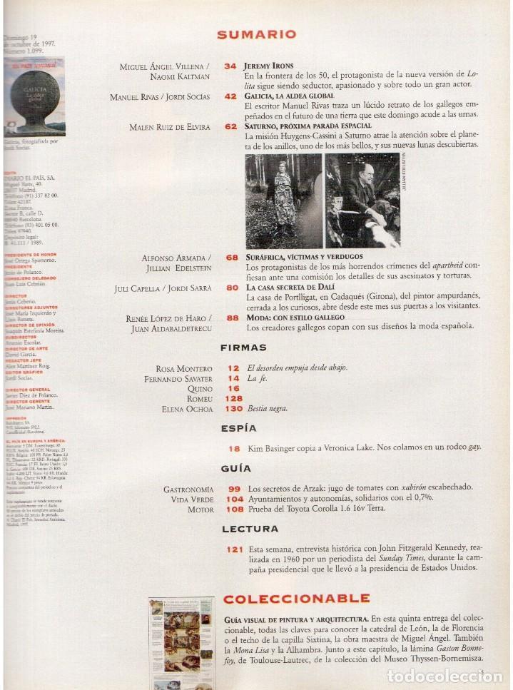 Coleccionismo de Periódico El País: 1997. the corrs. jeanne mandello. aitana sánchez-gijón. jeremy irons. antón reixa. DALÍ. VER SUMARIO - Foto 2 - 145964138