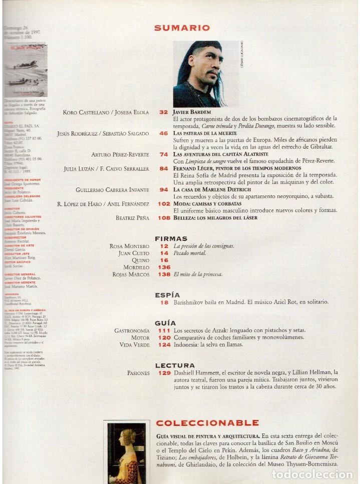 Coleccionismo de Periódico El País: 1997. mijaíl barishnikov. ariel rot. javier bardem. fernand léger. marlene dietrich. ver sumario. - Foto 2 - 145968154