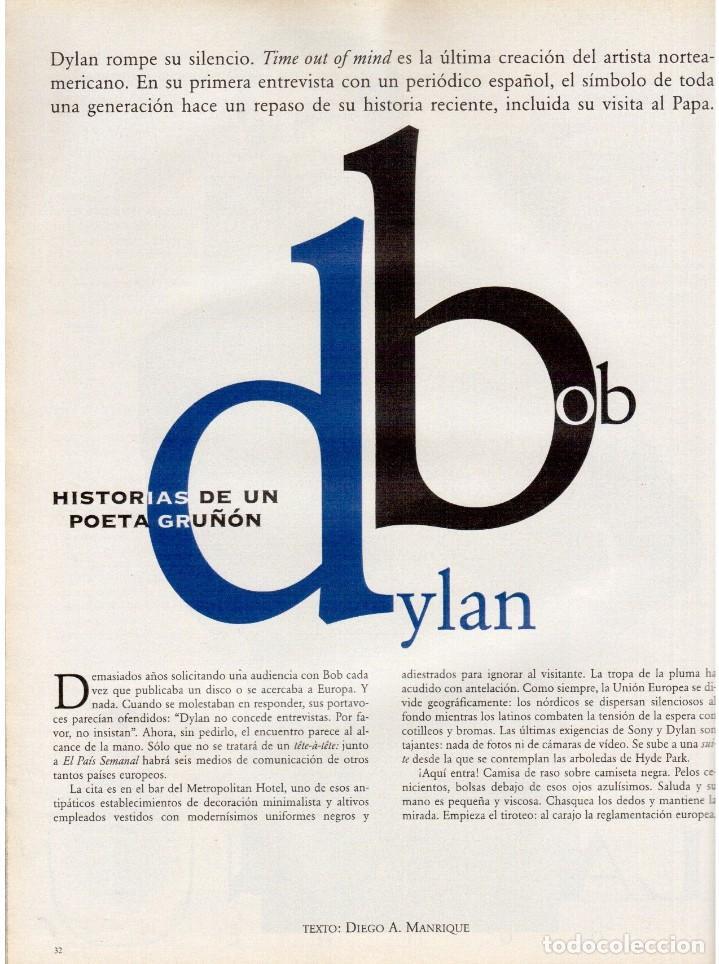 Coleccionismo de Periódico El País: 1997. bob dylan se confiesa. david duchovny. señor galindo. ortiz-echagüe. laura ponte. ver sumario - Foto 6 - 145970618