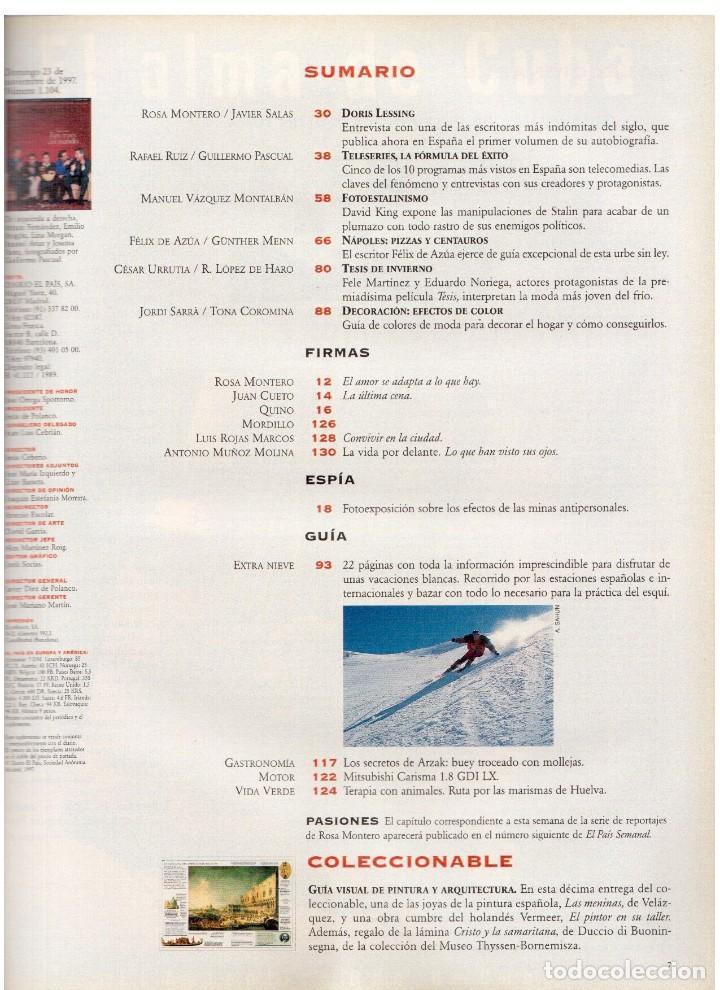 Coleccionismo de Periódico El País: 1997. gervasio sánchez. albert pla. doris lessing. el fary. fele mártinez. eduardo noriega. ver. - Foto 2 - 145976714