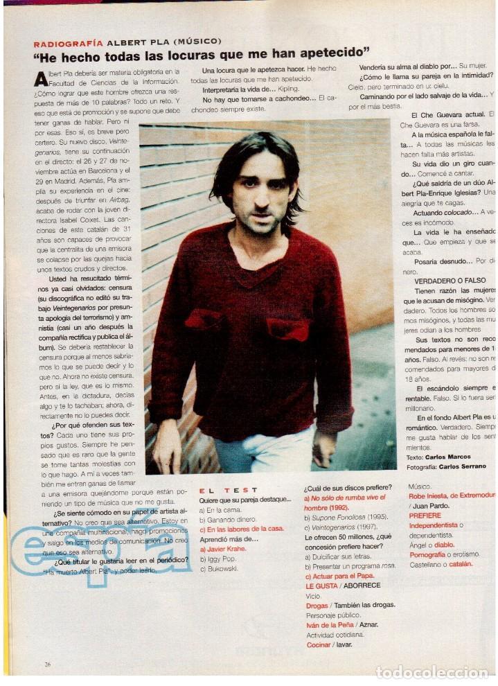 Coleccionismo de Periódico El País: 1997. gervasio sánchez. albert pla. doris lessing. el fary. fele mártinez. eduardo noriega. ver. - Foto 4 - 145976714