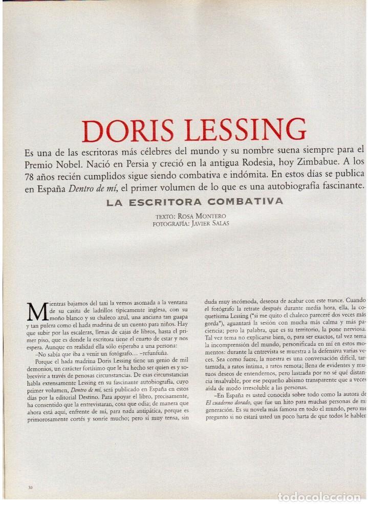 Coleccionismo de Periódico El País: 1997. gervasio sánchez. albert pla. doris lessing. el fary. fele mártinez. eduardo noriega. ver. - Foto 5 - 145976714