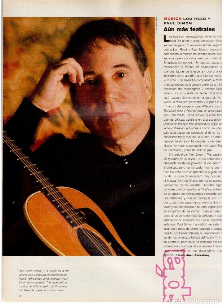 Coleccionismo de Periódico El País: 1997. lou red y paul simon. ethan hawke. tony catany. belinda washington. liz taylor. ver sumario. - Foto 3 - 146000522
