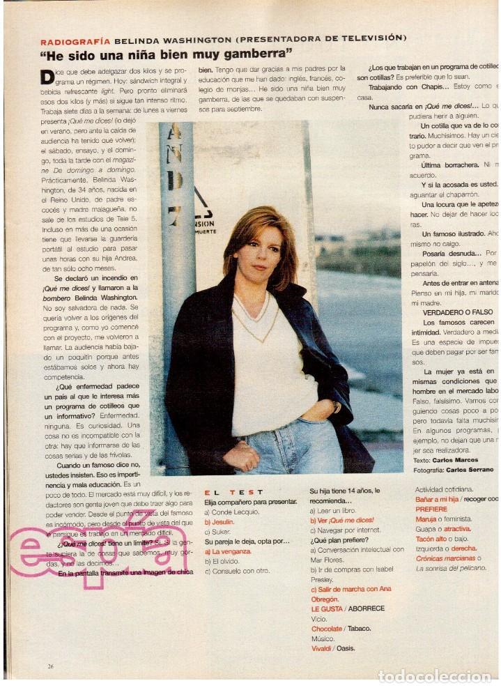 Coleccionismo de Periódico El País: 1997. lou red y paul simon. ethan hawke. tony catany. belinda washington. liz taylor. ver sumario. - Foto 7 - 146000522