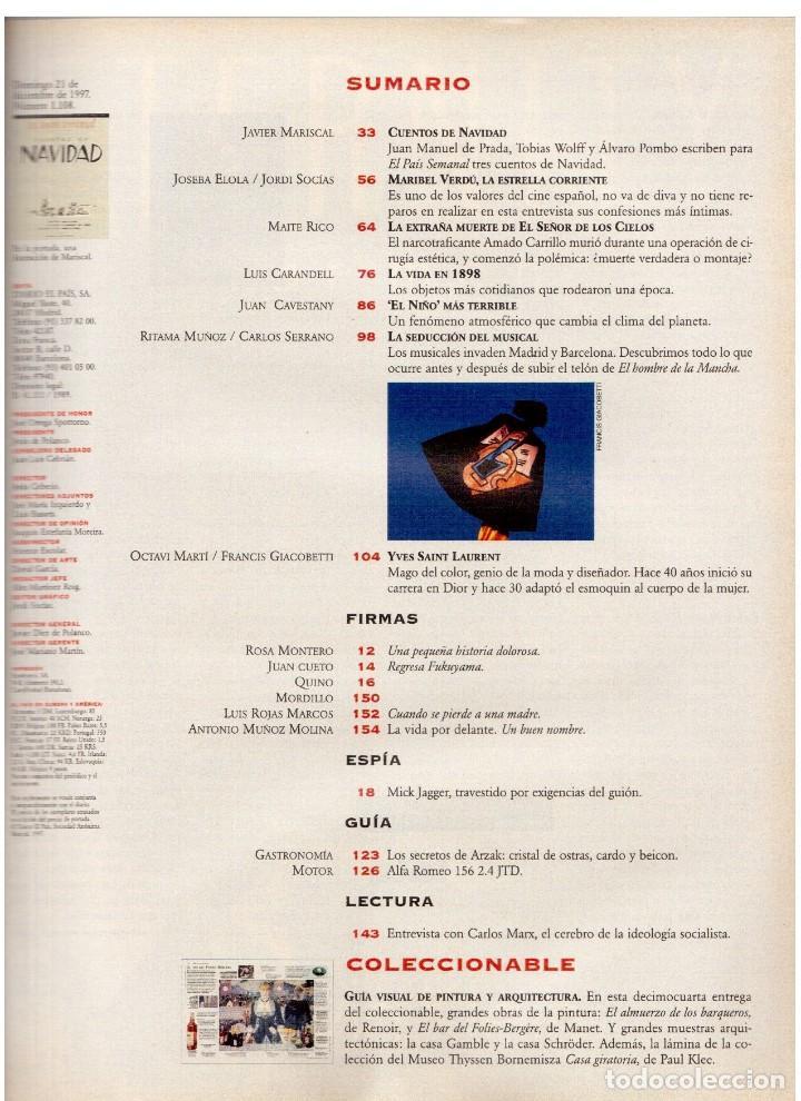 Coleccionismo de Periódico El País: 1997. mick jagger. kate winslet. carmen sevilla. maibel verdú. ana obregón. rocío jurado. ver sumari - Foto 2 - 146008862