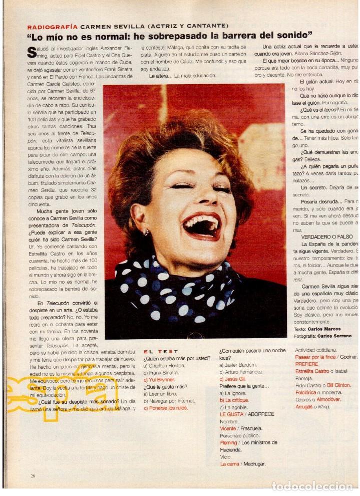 Coleccionismo de Periódico El País: 1997. mick jagger. kate winslet. carmen sevilla. maibel verdú. ana obregón. rocío jurado. ver sumari - Foto 5 - 146008862