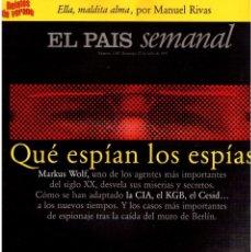 Coleccionismo de Periódico El País: 1997. ANA TORROJA DE MECANO. TEENAGE FAN CLUB. CHUS GUTIÉRREZ. MARKUS WOLF. VER SUMARIO. . Lote 146072314