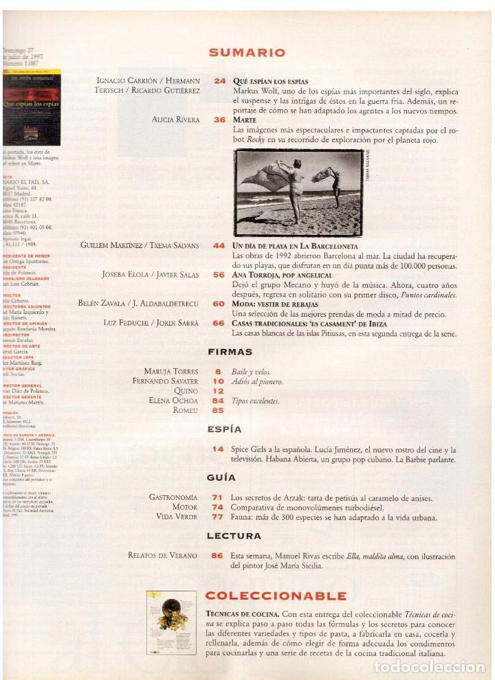Coleccionismo de Periódico El País: 1997. ana torroja de mecano. teenage fan club. chus gutiérrez. markus wolf. ver sumario. - Foto 2 - 146072314