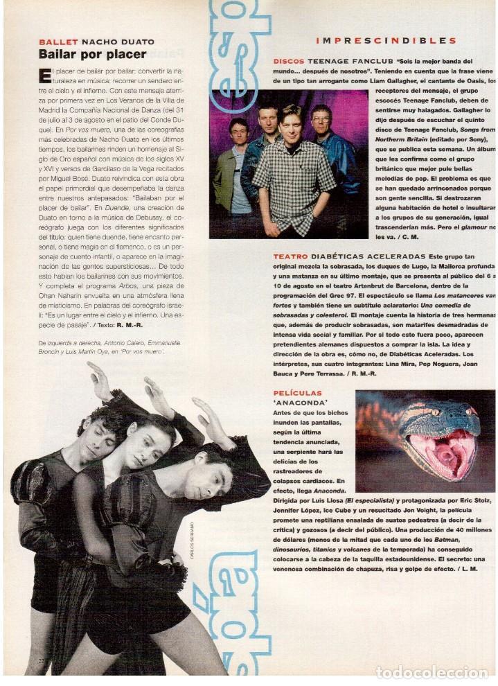 Coleccionismo de Periódico El País: 1997. ana torroja de mecano. teenage fan club. chus gutiérrez. markus wolf. ver sumario. - Foto 5 - 146072314