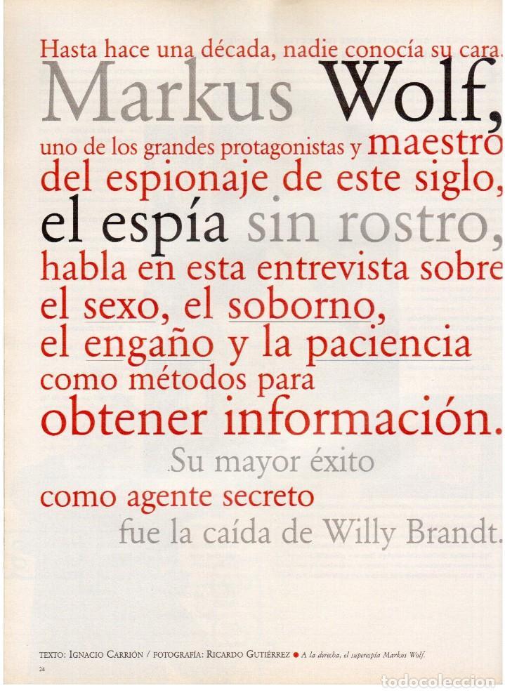 Coleccionismo de Periódico El País: 1997. ana torroja de mecano. teenage fan club. chus gutiérrez. markus wolf. ver sumario. - Foto 7 - 146072314