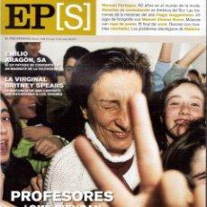 Coleccionismo de Periódico El País: 2002. MANUEL PERTEGAZ. BRITNEY SPEARS. PEGGY GUGGENHEIM. EMILIO ARAGÓN. VER SUMARIO.. Lote 147180046