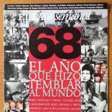 Coleccionismo de Periódico El País: EL PAIS SEMANAL, NÚMERO 1.127, 1998. MAYO DEL 68, EL AÑO QUE HIZO TEMBLAR EL MUNDO. Lote 148030962