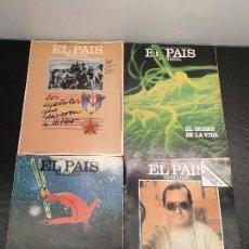 Coleccionismo de Periódico El País: LOTE 4 SUPLEMENTOS DE EL PAÍS SEMANAL. ENTRE 1981 Y 1983. NºS 243, 285, 295 Y 309. (ENVÍO 4,31€). Lote 148862718