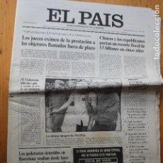 Coleccionismo de Periódico El País: EL PAÍS MIÉRCOLES 30 DE JULIO 1997. Lote 151598062