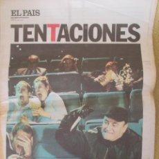 Coleccionismo de Periódico El País: TERROR EN EL CINE ESPAÑOL - EL PAÍS DE LAS TENTACIONES Nº 379 - 2001. Lote 153241550