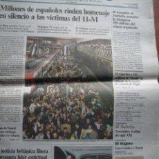 Coleccionismo de Periódico El País: PERIÓDICO EL PAÍS 12-MARZO-2005 - HEMEROTECA 11-M EN PAPEL - RECORTES PRENSA 44 PÁGS.. Lote 154021318