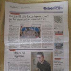 Coleccionismo de Periódico El País: CIBERPAIS Nº 435 2006. Lote 154316862