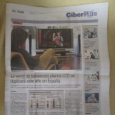 Coleccionismo de Periódico El País: CIBERPAIS Nº 436 2006. Lote 154319106
