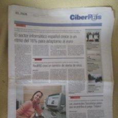 Coleccionismo de Periódico El País: CIBERPAIS Nº 172 2001. Lote 154320710