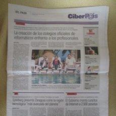 Coleccionismo de Periódico El País: CIBERPAIS Nº 171 2001. Lote 154320938
