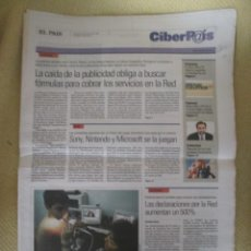 Coleccionismo de Periódico El País: CIBERPAIS Nº 168 2001. Lote 154321678