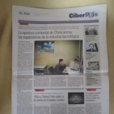 Coleccionismo de Periódico El País: CIBERPAIS Nº 194 2001. Lote 154668342