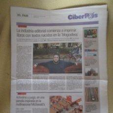 Coleccionismo de Periódico El País: CIBERPAIS Nº 409 2006. Lote 154700798