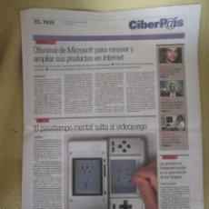 Coleccionismo de Periódico El País: CIBERPAIS Nº 405 2006. Lote 154708542