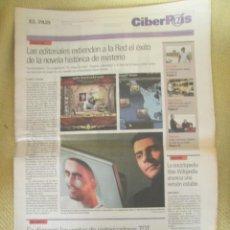 Coleccionismo de Periódico El País: CIBERPAIS Nº 393 2005. Lote 155646286