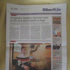 Coleccionismo de Periódico El País: CIBERPAIS Nº 410 2006. Lote 155646878