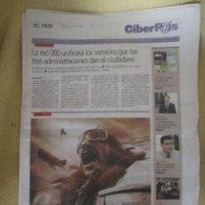Coleccionismo de Periódico El País: CIBERPAIS Nº 416 2006. Lote 155647182