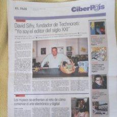 Coleccionismo de Periódico El País: CIBERPAIS Nº 415 2006. Lote 155965054