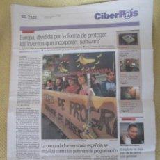 Coleccionismo de Periódico El País: CIBERPAIS Nº 363 2005. Lote 155967818