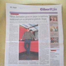 Coleccionismo de Periódico El País: CIBERPAIS Nº 352 2005. Lote 155969030