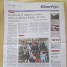 Coleccionismo de Periódico El País: CIBERPAIS Nº 364 2005. Lote 155972562