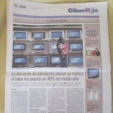 Coleccionismo de Periódico El País: CIBERPAIS Nº 367 2005. Lote 155974986