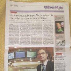 Coleccionismo de Periódico El País: CIBERPAIS Nº 380 2005. Lote 155977290