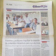 Coleccionismo de Periódico El País: CIBERPAIS Nº 376 2005. Lote 155977426