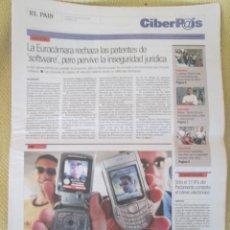 Coleccionismo de Periódico El País: CIBERPAIS Nº 373 2005. Lote 155981206