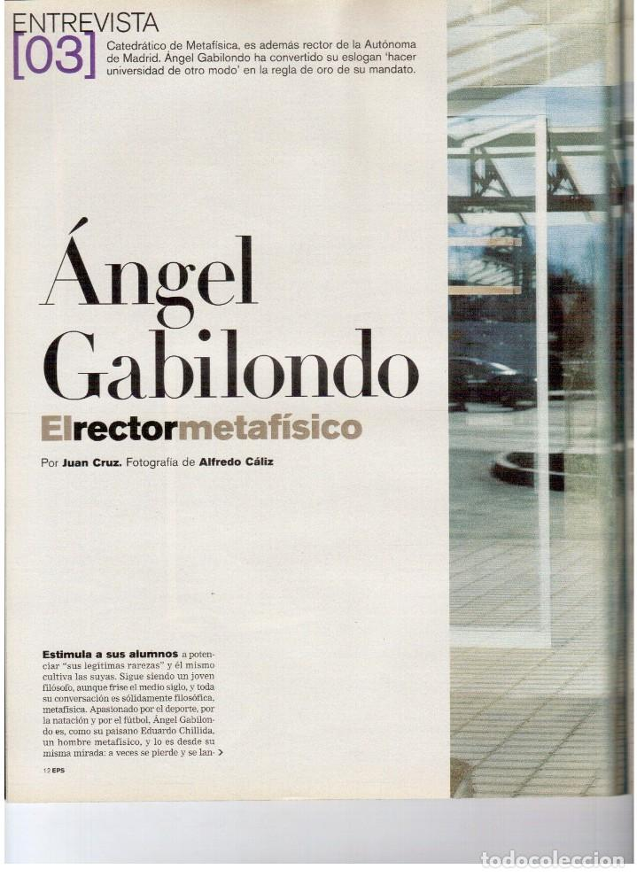 Coleccionismo de Periódico El País: 2004. nevenka fernández.angel gabilondo.uma thurman. juan diego flórez.marilyn monroe.elena anaya. - Foto 3 - 156585046