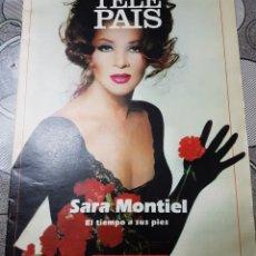 Coleccionismo de Periódico El País: SARA MONTIEL SUPLEMENTO DEL PERIODICO EL PAIS AÑO 1989. Lote 156635472
