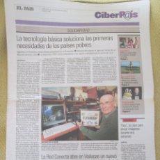 Coleccionismo de Periódico El País: CIBERPAIS Nº 345 2004. Lote 156639010