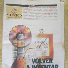Coleccionismo de Periódico El País: CIBERPAIS ESPECIAL SIMO 2000. Lote 156641358