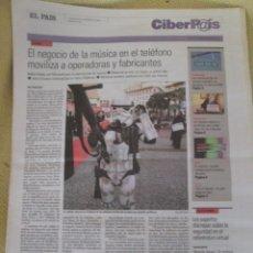 Coleccionismo de Periódico El País: CIBERPAIS Nº 353 2005. Lote 156646494