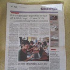 Coleccionismo de Periódico El País: CIBERPAIS Nº 402 2006. Lote 156646682