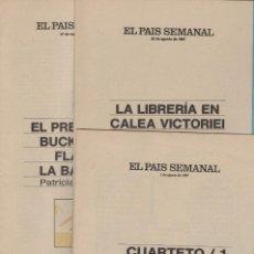 Coleccionismo de Periódico El País: RELATOS DE VERANO EL PAÍS SEMANAL,DOCE NÚMEROS 24 RELATOS, AÑO 1987. Lote 165502918